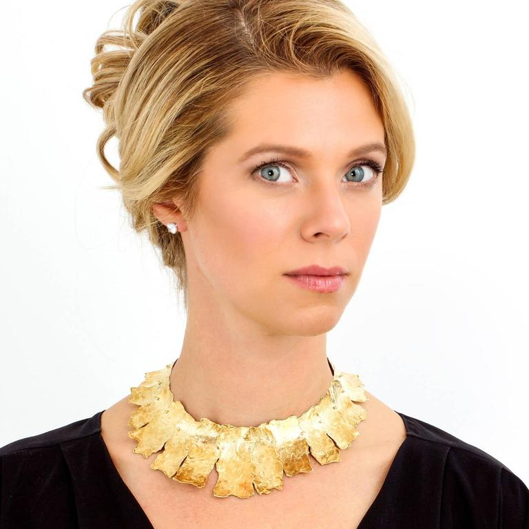 Spectacular Ed Wiener Modernist Gold Necklace 2