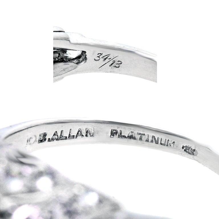 Art Deco Diamond and Platinum Engagement Ring 5