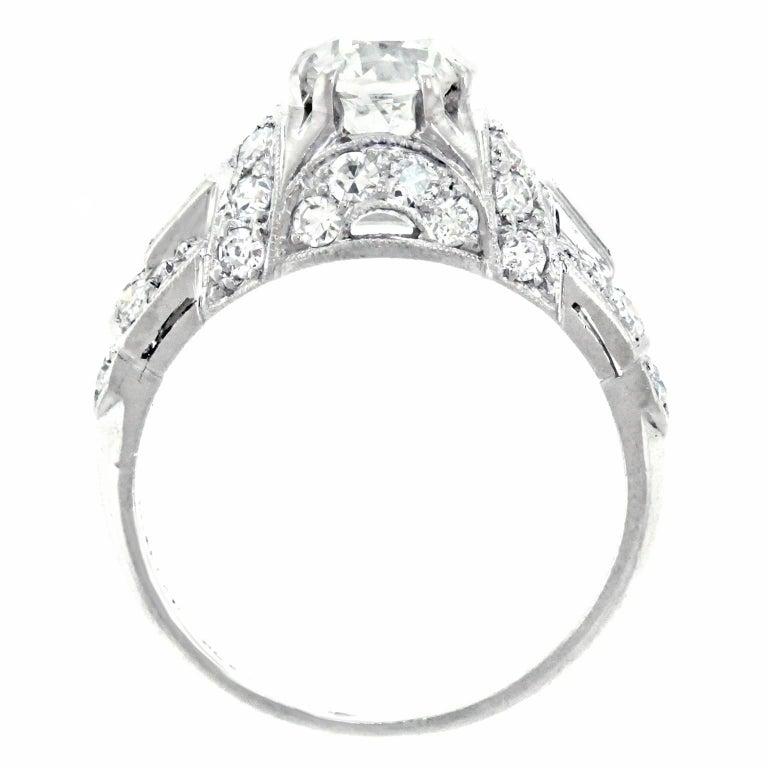 Art Deco Diamond and Platinum Engagement Ring 7