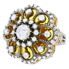 """Baroque on Baroque"" Citrine Diamond Ring"