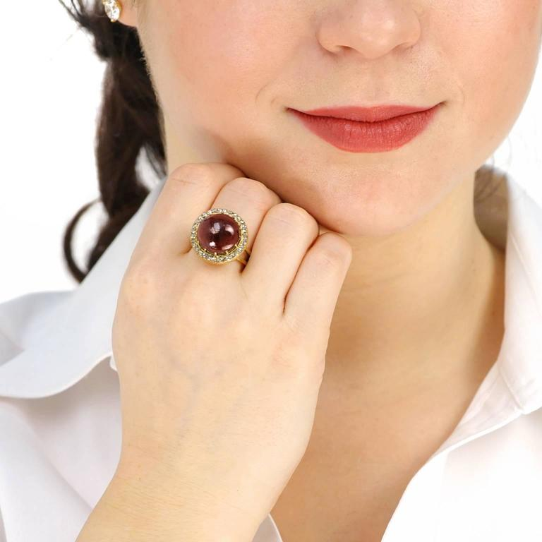 Antique Garnet & Diamond Gold Ring 4