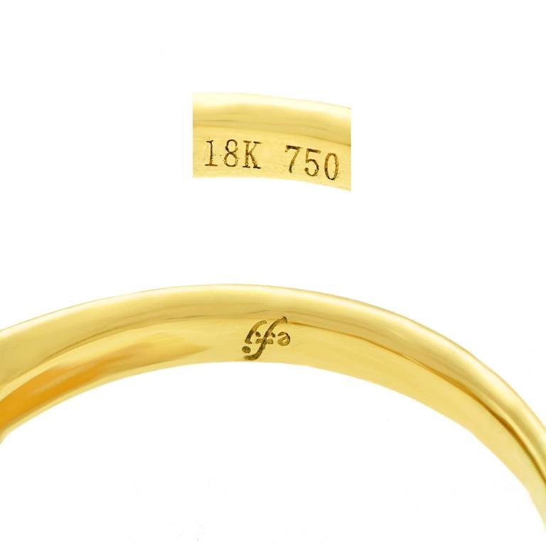 Fabulous 1.14 Carat Diamond Set Yellow Gold Ring GIA 5