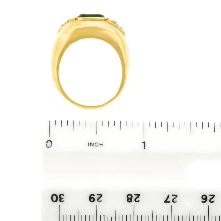 Tourmaline and Diamond Set Gold Ring For Sale 2