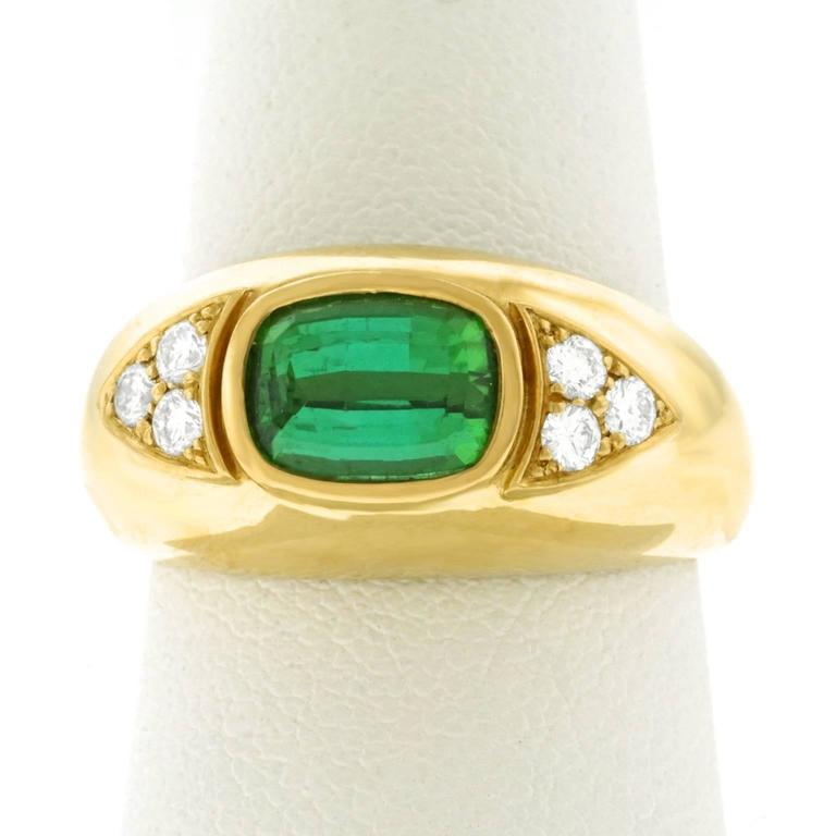 Tourmaline and Diamond Set Gold Ring For Sale 4