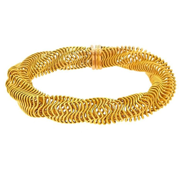 Boucheron Modernist Gold Bracelet For Sale