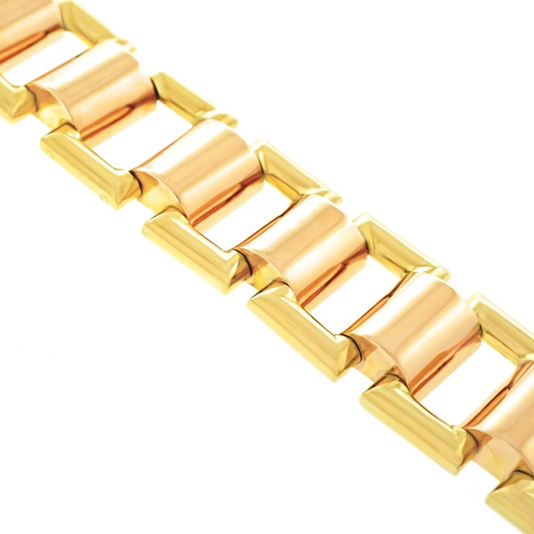 French Art Deco Gold Bracelet For Sale 4
