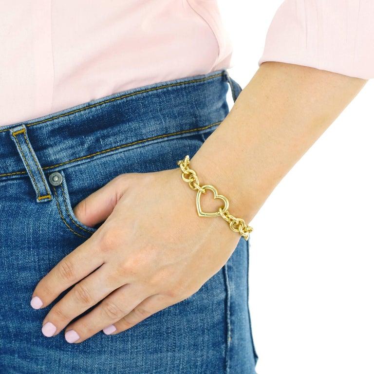 Women's Tiffany & Co. Gold Heart Bracelet For Sale