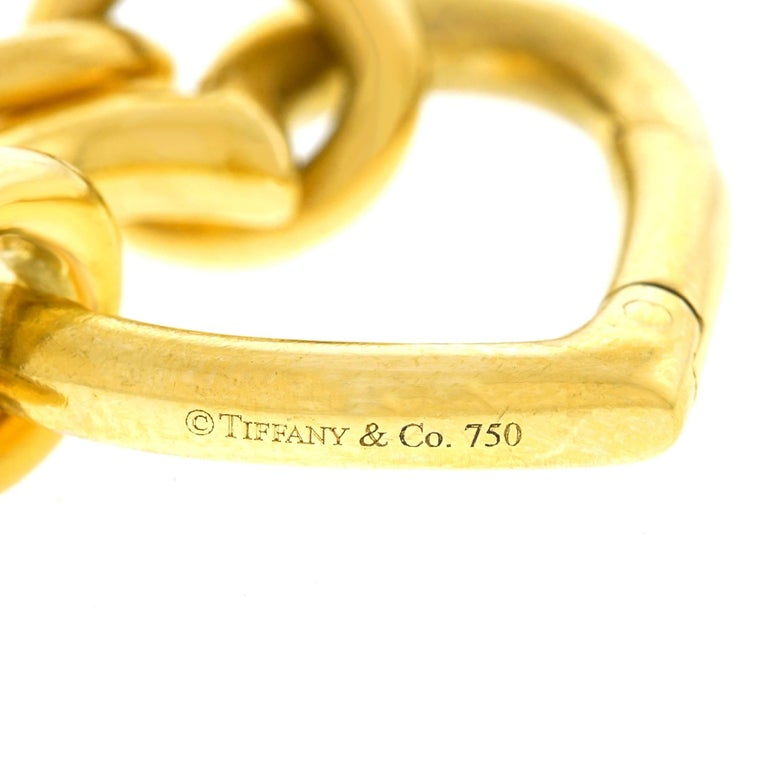 Tiffany & Co. Gold Heart Bracelet For Sale 1