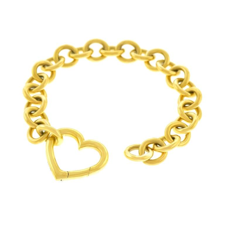 Tiffany & Co. Gold Heart Bracelet For Sale 3