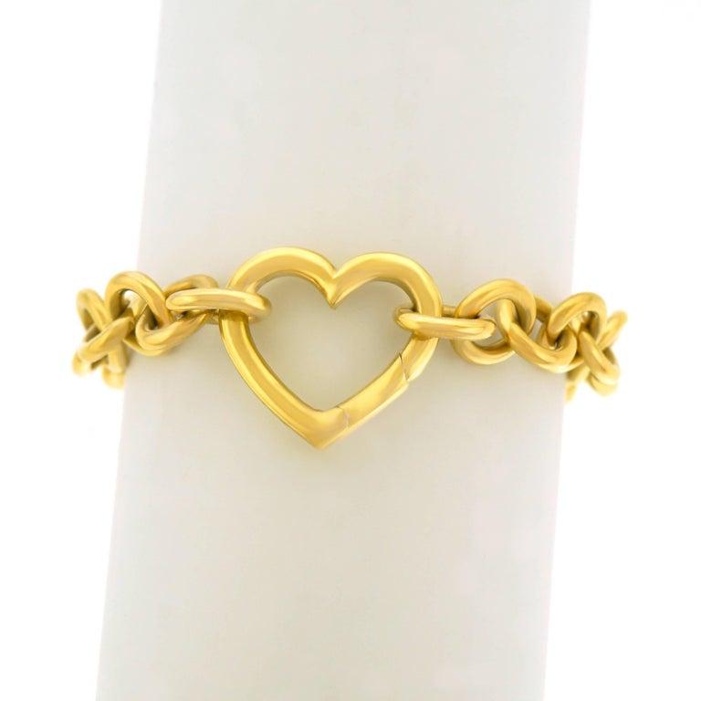 Tiffany & Co. Gold Heart Bracelet For Sale 4