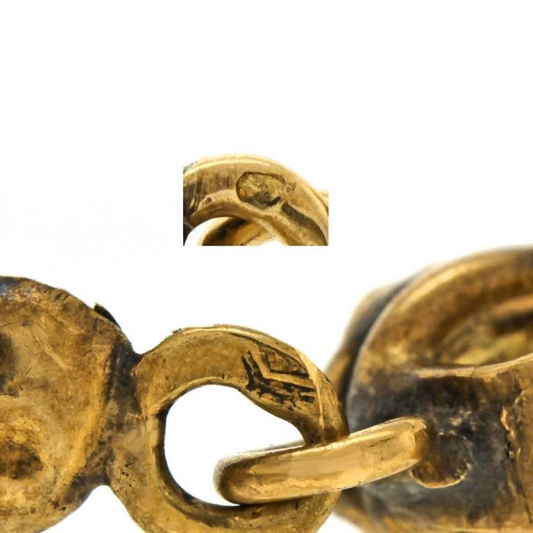 Gorgeous 19th Century French Garnet Gold Chandelier Earrings 6