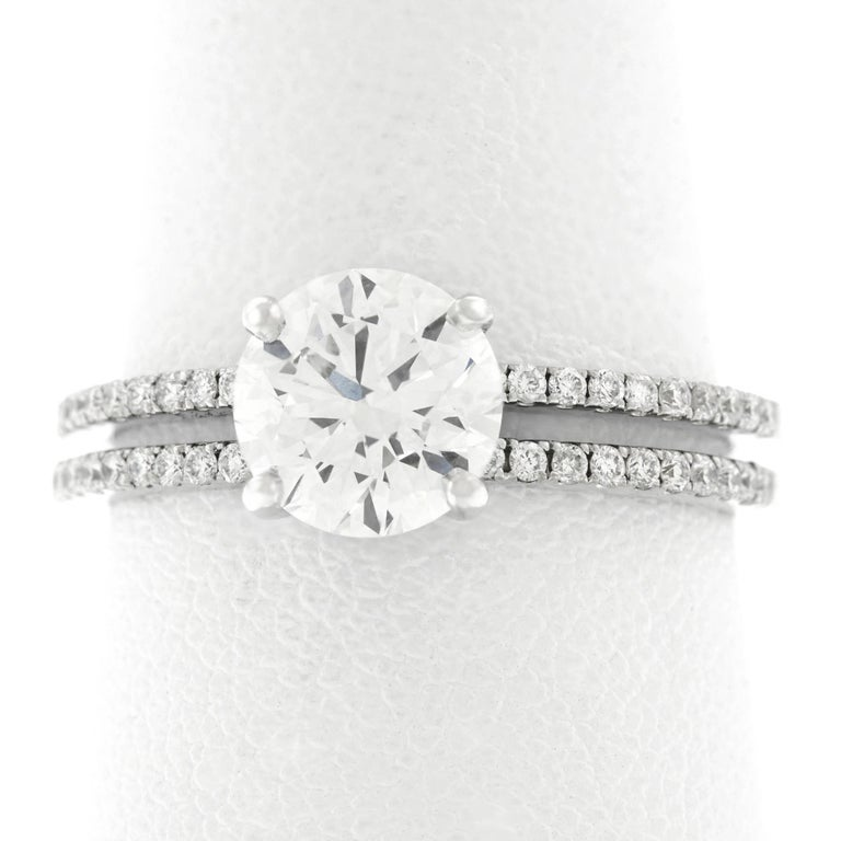 1.40 Carat F VS Diamond Engagement Ring GIA For Sale 4