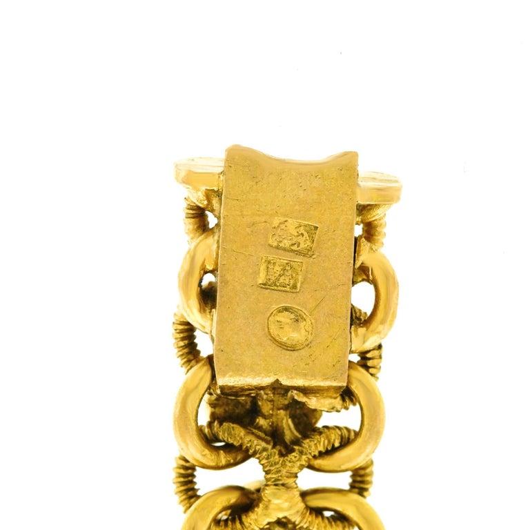1960s Turquoise Set 22k Gold Bracelet For Sale 1