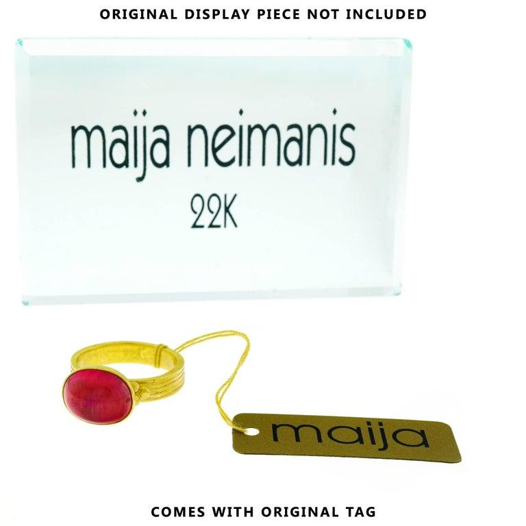Maija Neimanis Archaic Motif High Karat Gold Ring 3