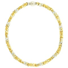 Italian Seventies Contempo Chic Gold Necklace