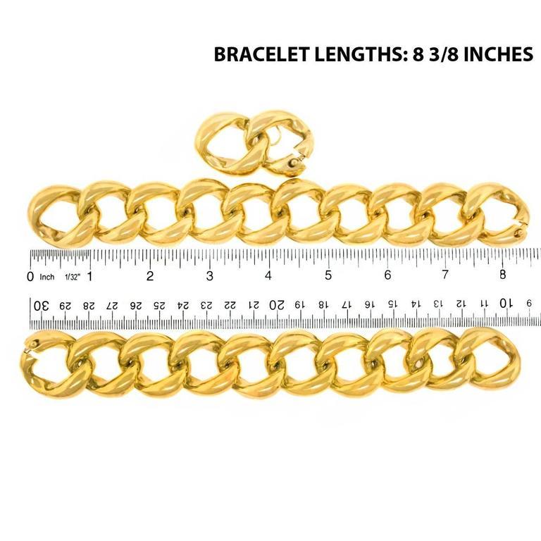 Seaman Schepps Heavy Pair of Bracelets or Gold Necklace 6