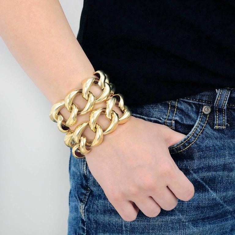 Seaman Schepps Heavy Pair of Bracelets or Gold Necklace 4