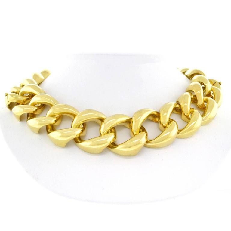 Seaman Schepps Heavy Pair of Bracelets or Gold Necklace 7