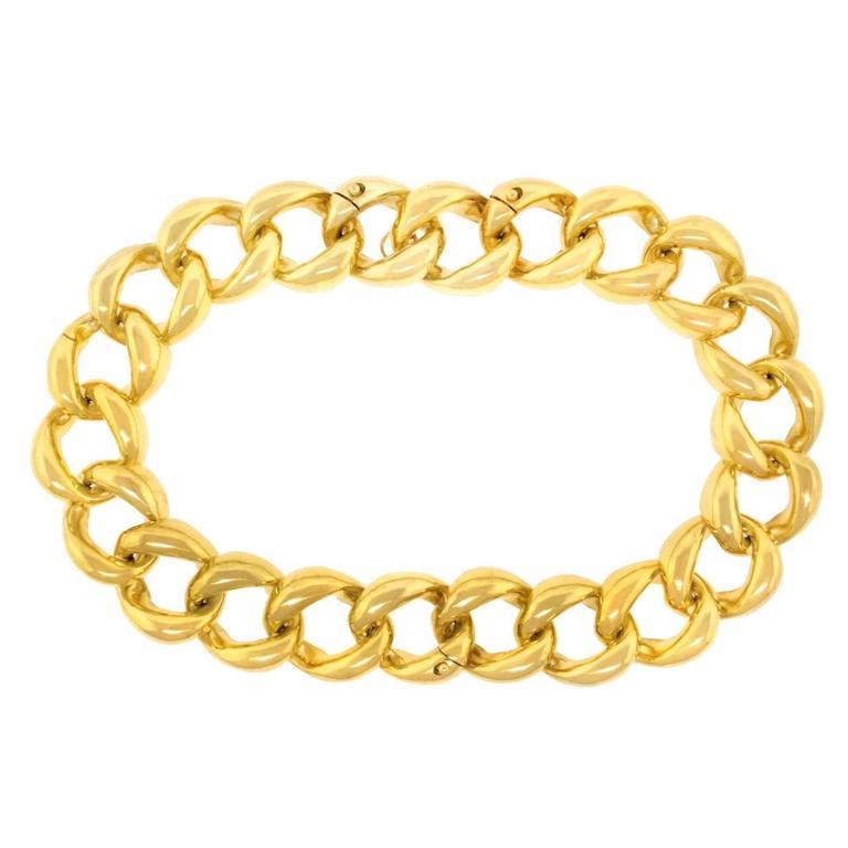 Seaman Schepps Heavy Pair of Bracelets or Gold Necklace 8