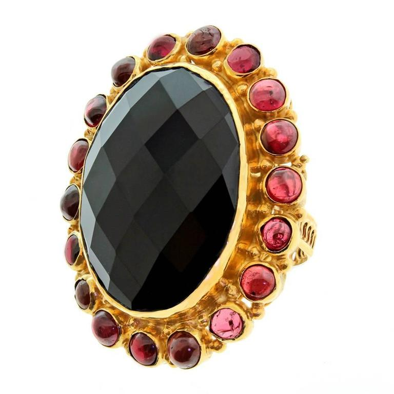 Huge 1960s Gold Fashion Ring