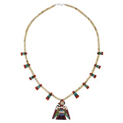 Kewa or Santo Domingo Pueblo Depression Era Necklace