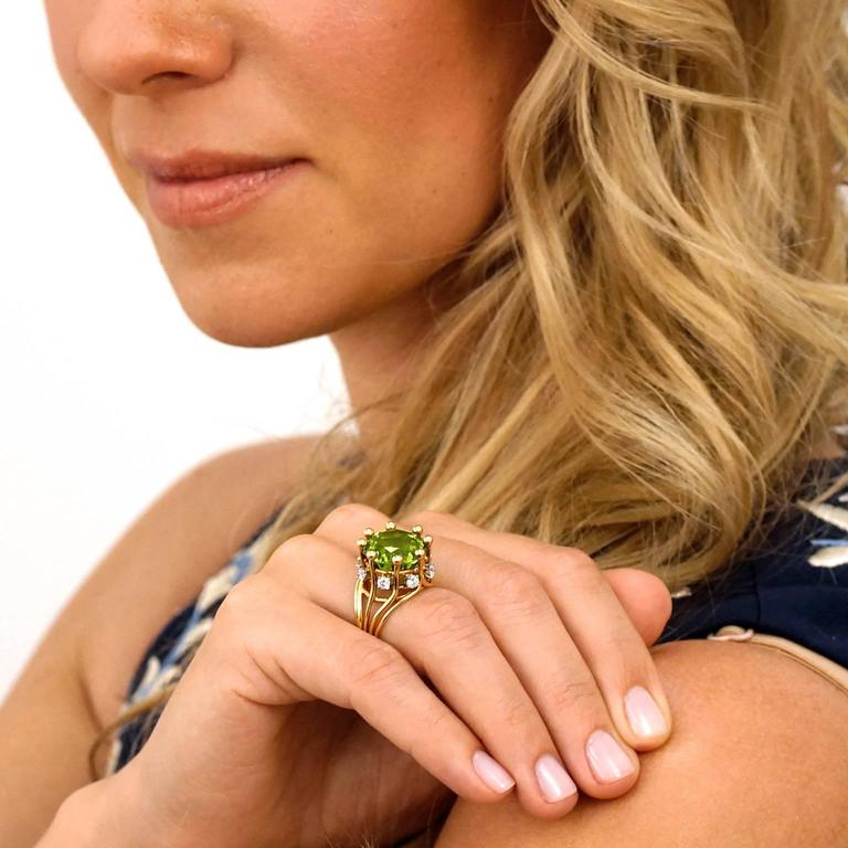 Jean Schlumberger for Tiffany & Co. Peridot Diamond Gold Ring 4