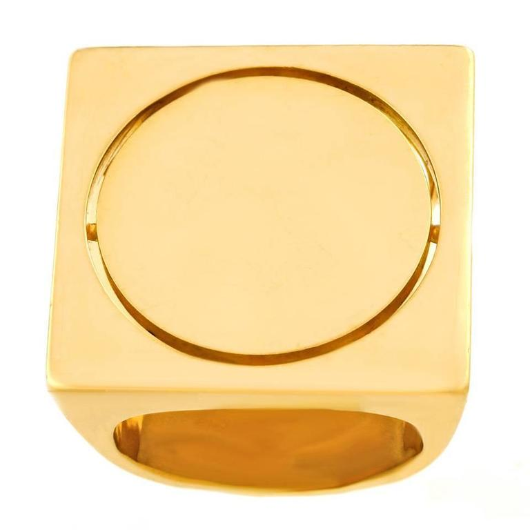 Modernist Gold Ring by Kurt Aepli for Burch In Excellent Condition For Sale In Litchfield, CT