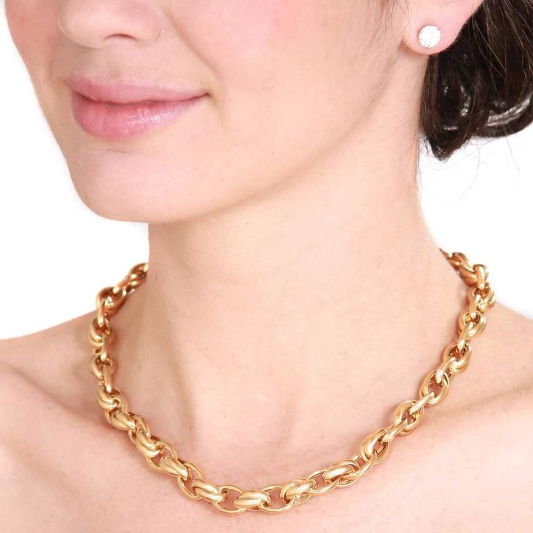 1980s Gay Freres Gold link Necklace 4