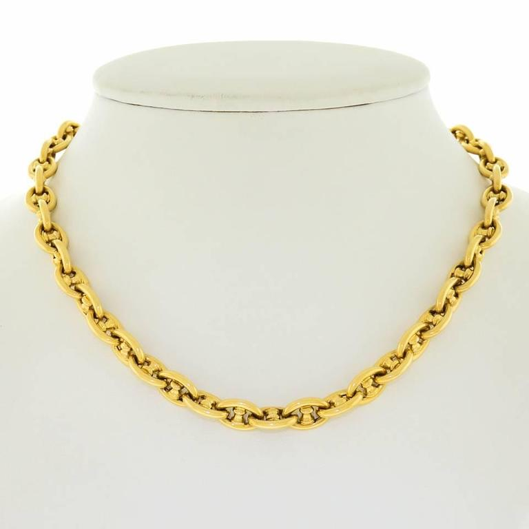 Caplain of Paris Gold Anchor Link Necklace 8