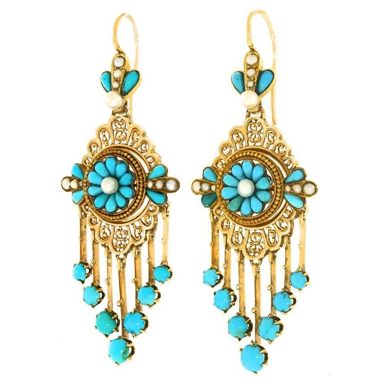 Brand new Antique French Chandelier Earrings For Sale at 1stdibs DR11