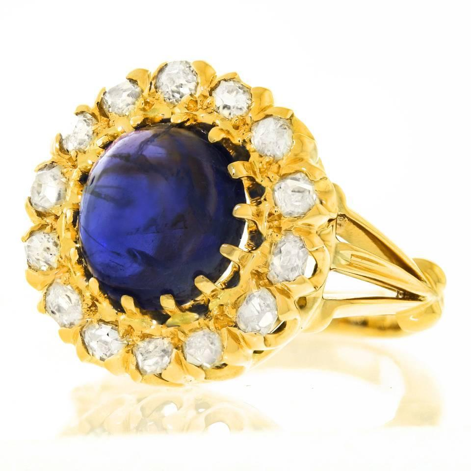 antique sapphire gold ring at 1stdibs