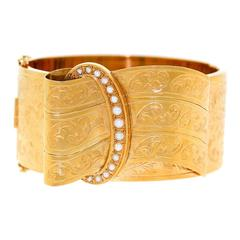 Andre Aucoc Wide Antique Buckle Bracelet-Bangle