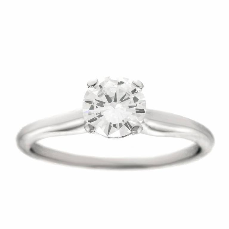 Jabel White Gold Diamond Engagement Ring .82 Carat Diamond For Sale 3