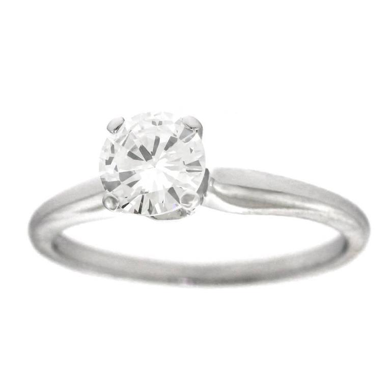 Jabel White Gold Diamond Engagement Ring .82 Carat Diamond For Sale