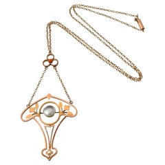 9ct Rose Gold Antique Victorian Necklace