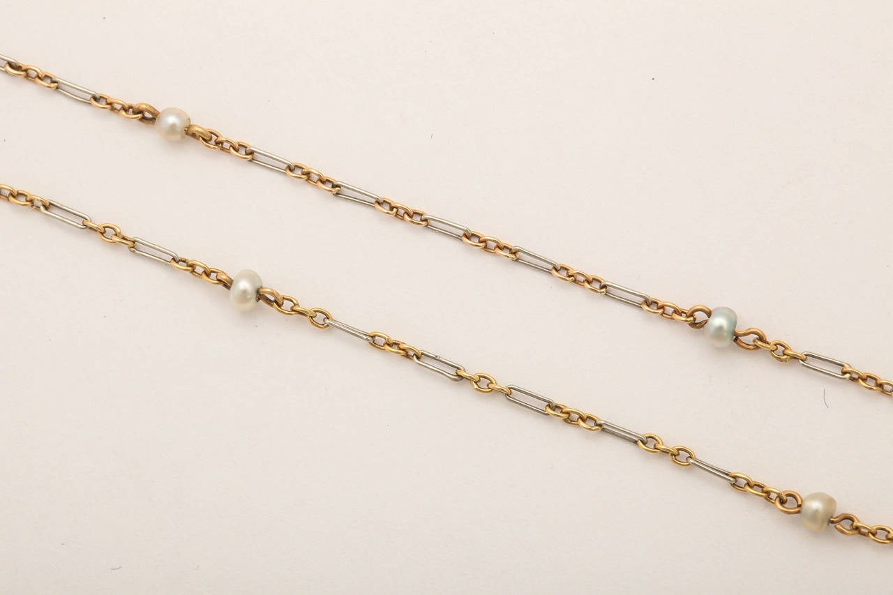 Edwardian Enamel Peridot Pearl Diamond Gold Drop Necklace For Sale 4