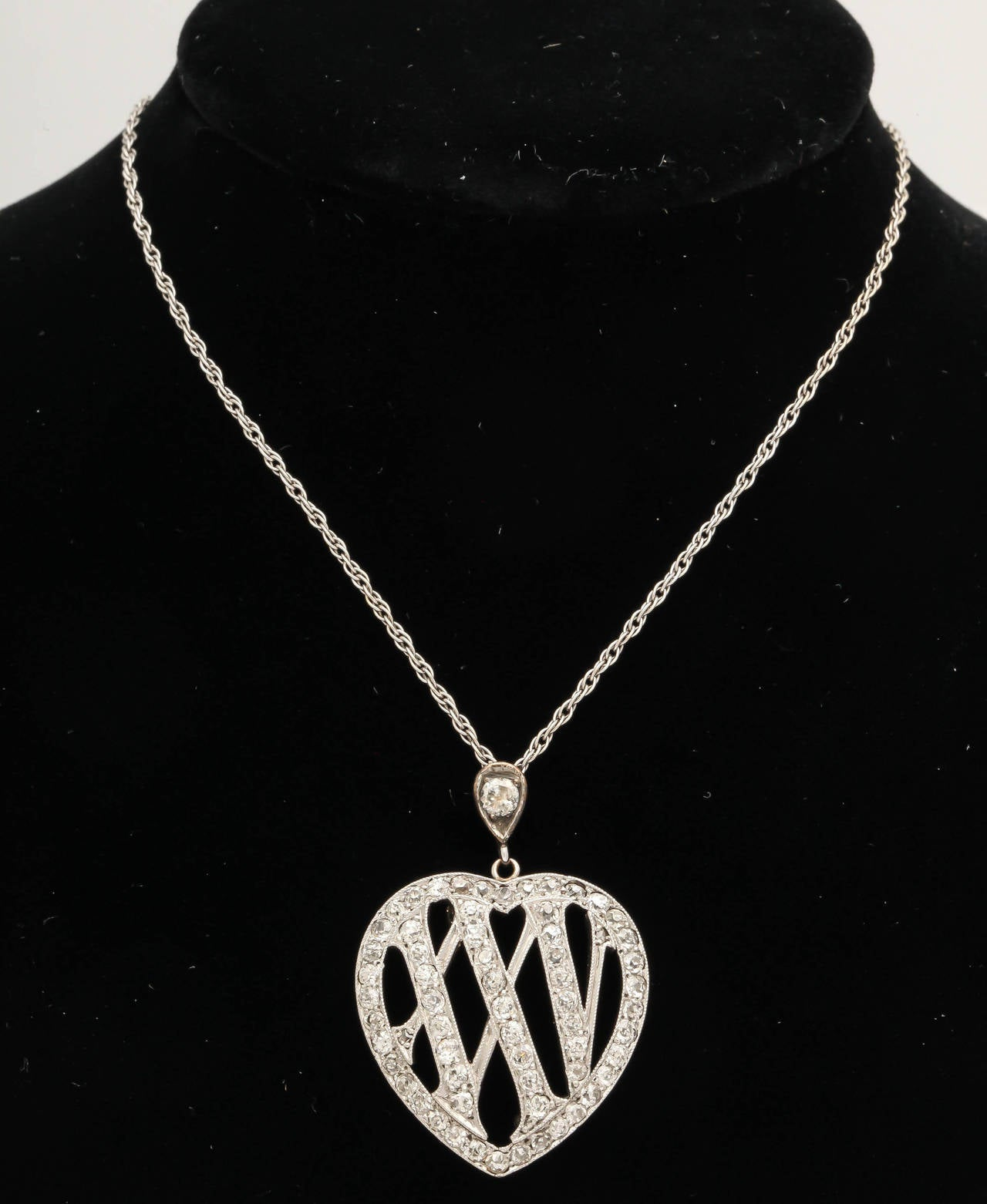 1910 Edwardian Diamond Gold Platinum 25th Anniversary Pendant For Sale 2