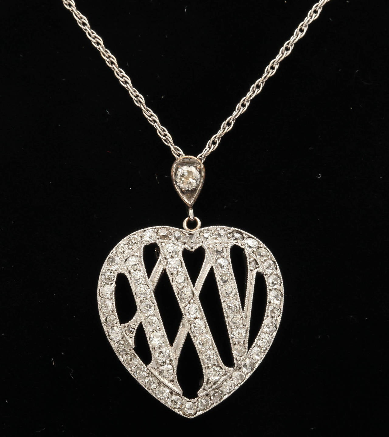 1910 Edwardian Diamond Gold Platinum 25th Anniversary Pendant For Sale 3