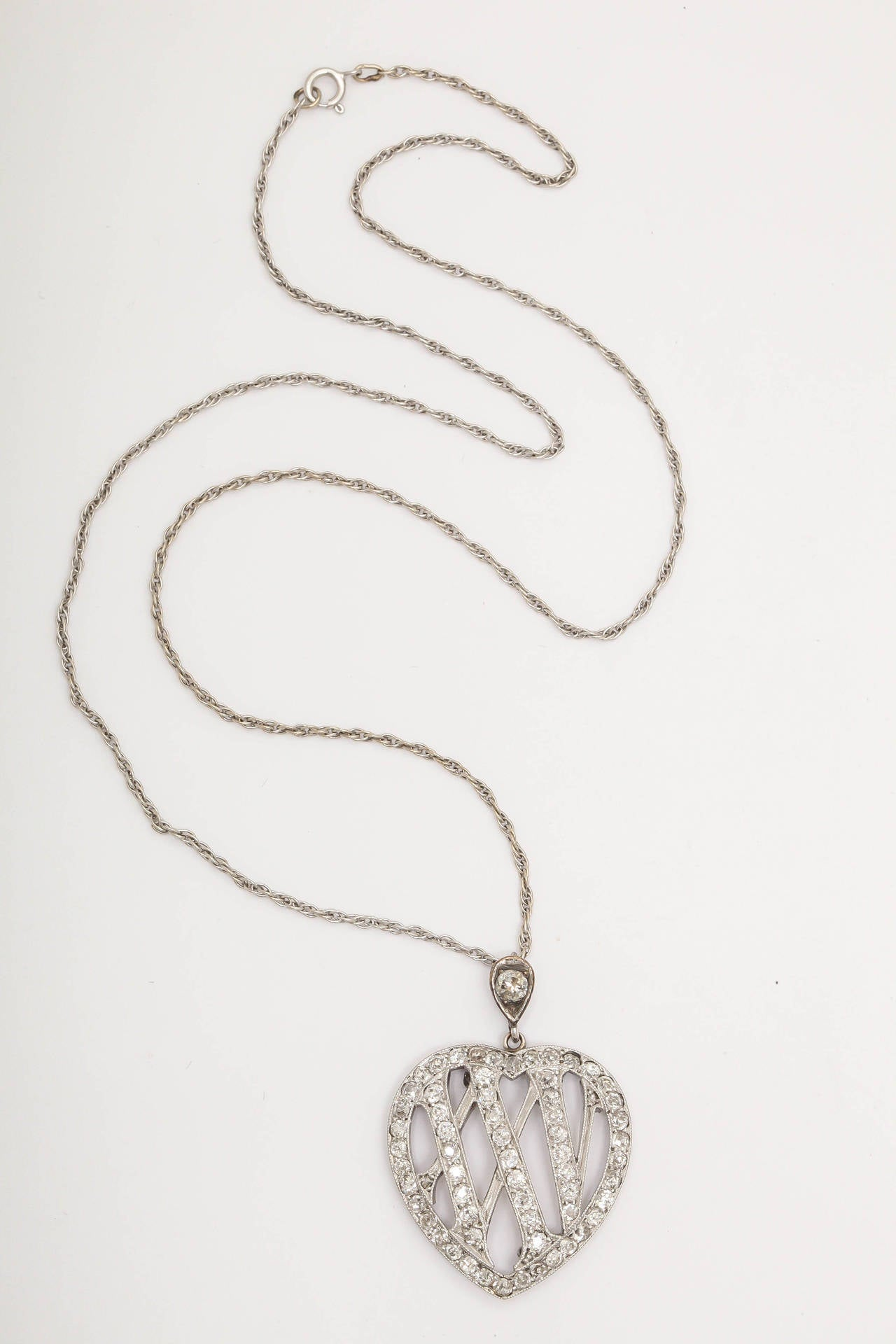 1910 Edwardian Diamond Gold Platinum 25th Anniversary Pendant For Sale 4