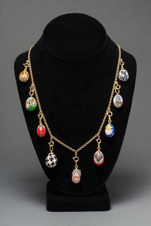 Dacha easter egg necklace by marie e betteley for sale at 1stdibs dacha easter egg necklace by marie e betteley for sale 1 aloadofball Choice Image