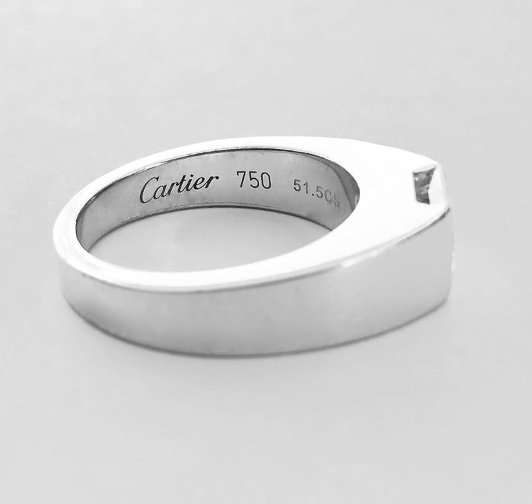 cartier tank solitaire ring at 1stdibs