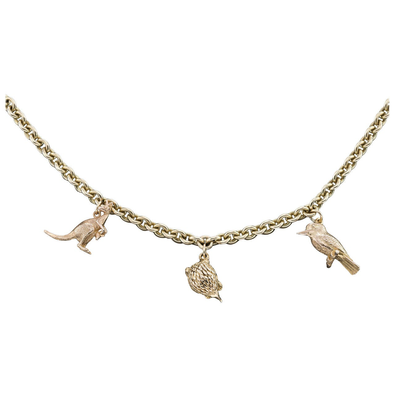 1960s australian animal gold charm bracelet at 1stdibs