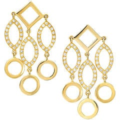Cassandra Goad Temple of Heaven Diamond Gold Dangle Earrings