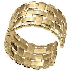 Cassandra Goad Aalto Espa Woven Gold Cuff Bracelet