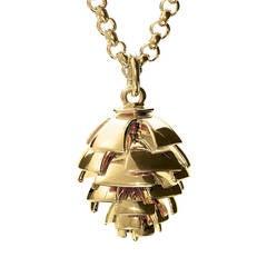 Cassandra Goad Furu Kongle Gold Pine Cone Pendant
