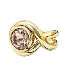 Cassandra Goad Severine Smoky Quartz Gold Cocktail Ring