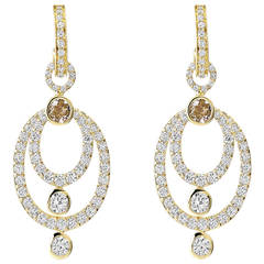 Manaus Diamond Gold Chandelier Earrings
