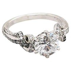 Forget Me Knot 1.6ct Round Diamond Ring