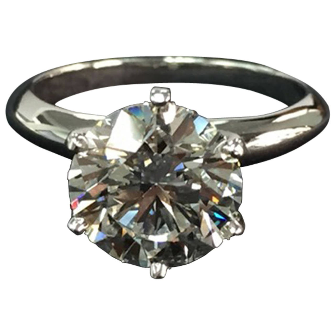 Tiffany and Co 3 32 Carat Diamond Platinum Engagement Ring at 1stdibs