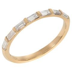 18 Karat Fairmined Yellow Gold Baguette Cut Diamond Ring